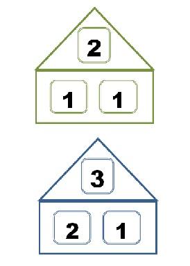 состав числа до 10 в картинках домики